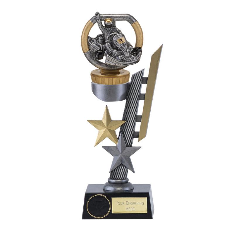 26cm Go-Kart Figure On Motorsports Arena Award