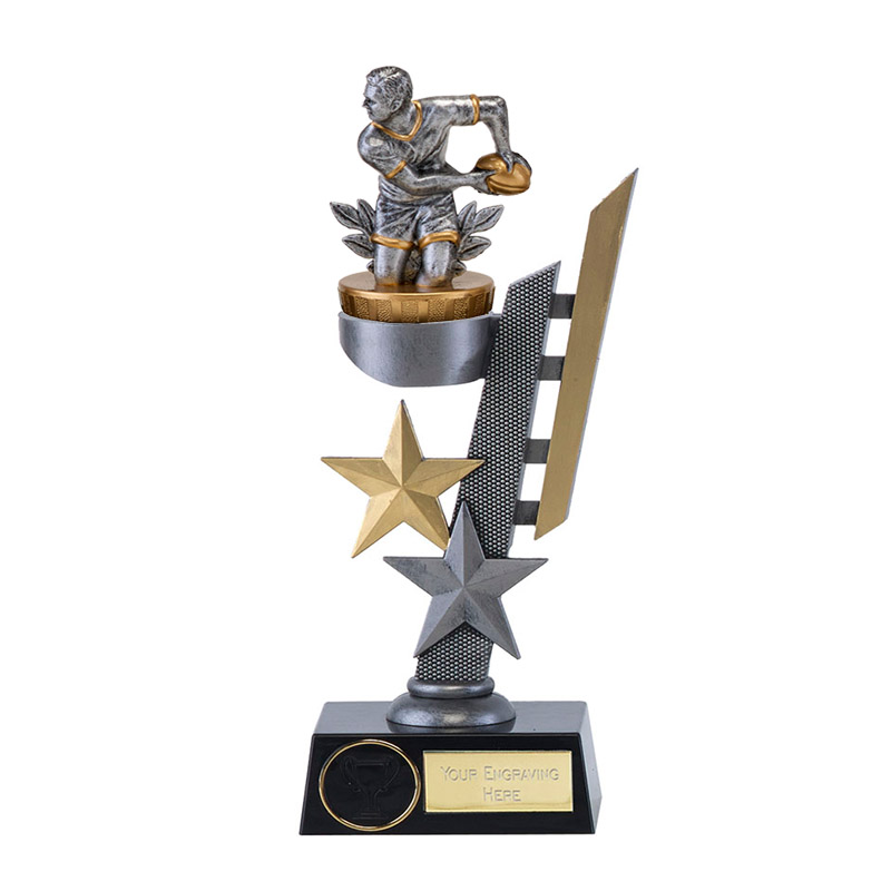 26cm Rugby Figure on Arena Award