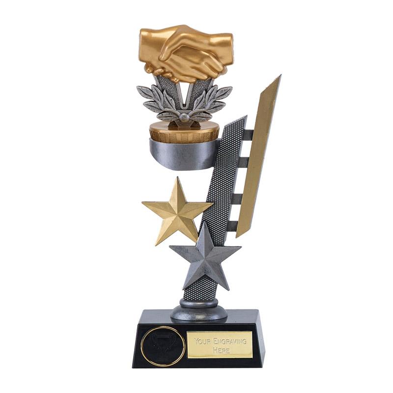 26cm Handshake Figure on Arena Award