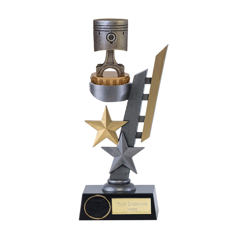 26cm Piston Figure on Motorsports Arena Award