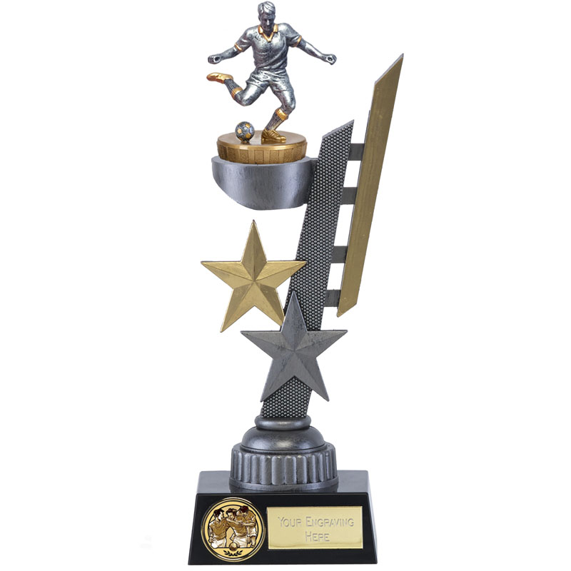 26cm Footballer Male Figure on Football Arena Award