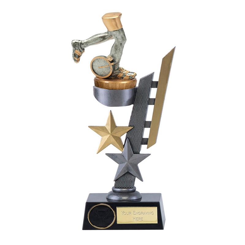 28cm Running Neutral Figure On Arena Award