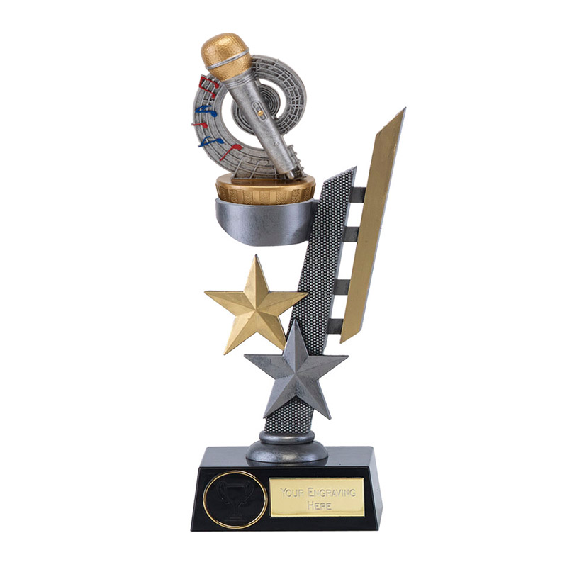 28cm Microphone Place Figure On Music Arena Award