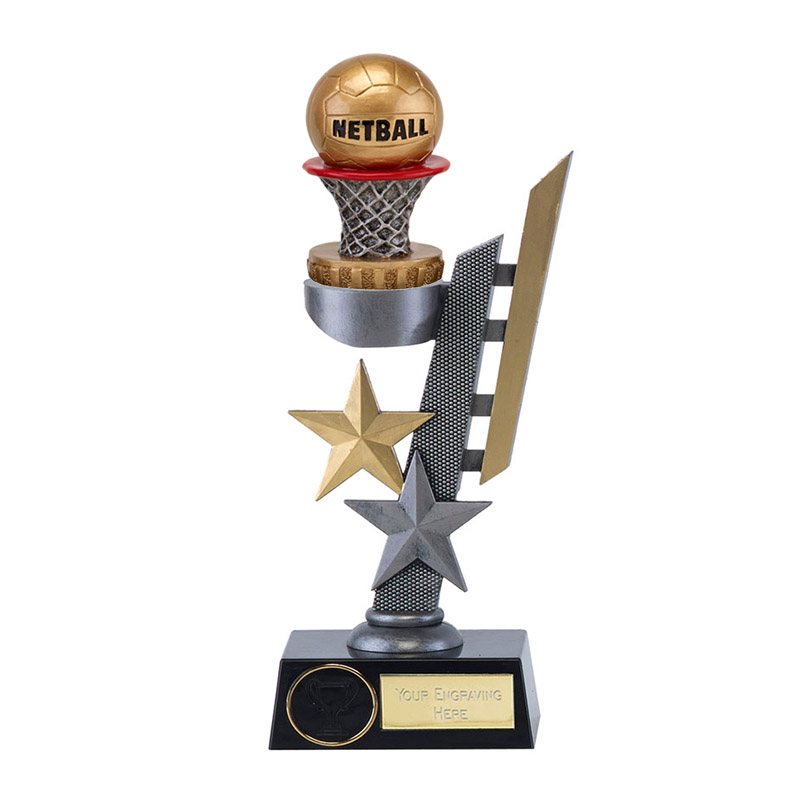 28cm Netball Figure on Netball Arena Award