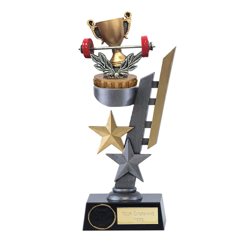 28cm Weightlifting Figure On Arena Award