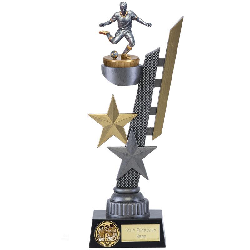 28cm Footballer Male Figure on Football Arena Award