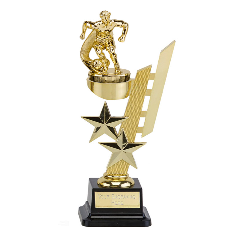 10 Inch Gold Football Figure On Sports Star Award