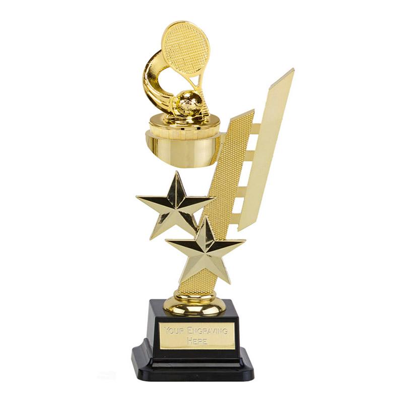 10 Inch Gold Tennis Figure On Sports Star Award