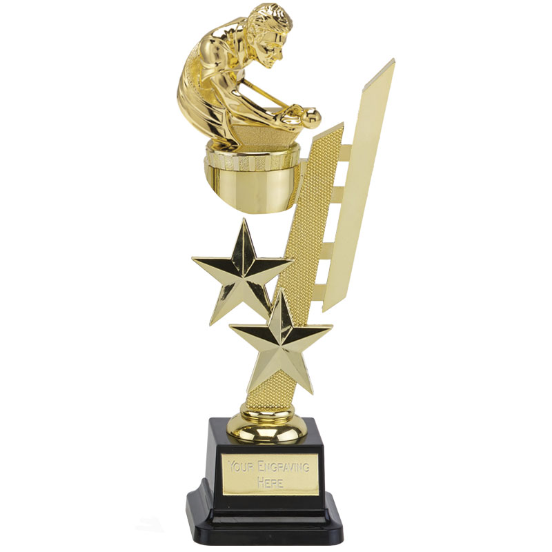 10 Inch Gold Snooker/Pool Figure on Snooker & Pool Sports Star Award