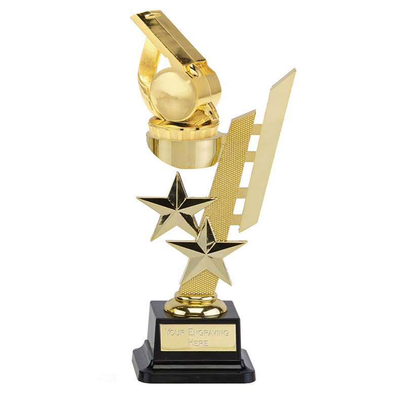 10 Inch Gold Whistle Figure On Sports Star Award