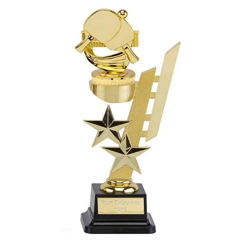 10 Inch Gold Table Tennis Figure On Sports Star Award