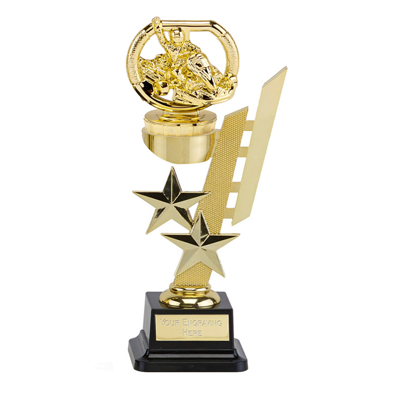 10 Inch Gold Go-Kart Figure on Motorsports Sports Star Award