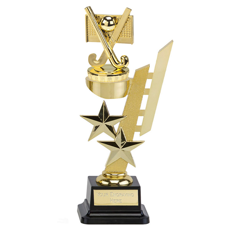 10 Inch Gold Field Hockey Figure on Hockey Sports Star Award