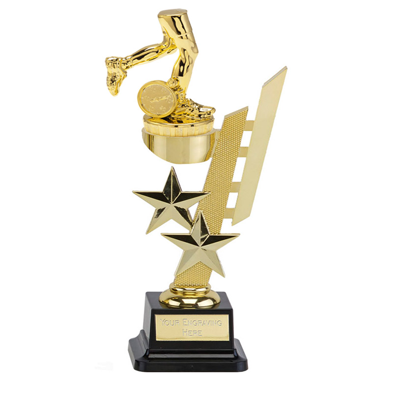 10 Inch Gold Running Neutral Figure On Sports Star Award
