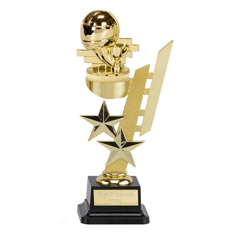 10 Inch Gold Motorsports Neutral Figure On Sports Star Award