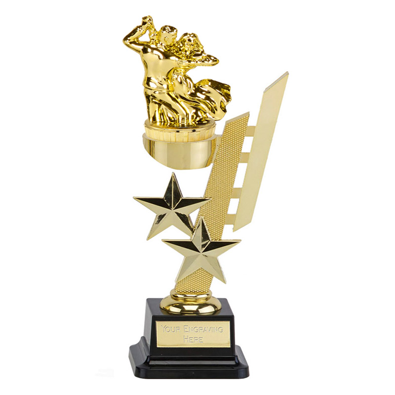 10 Inch Gold Ballroom Dancing Figure On Dance Sports Star Award