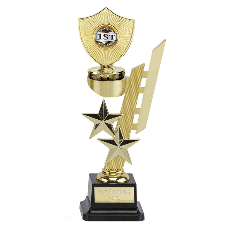 10 Inch Gold Centre Shield Figure on Sports Star Award