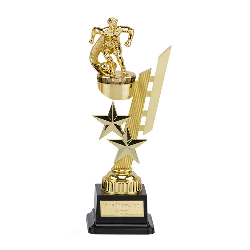 27cm Gold Football Player Figure on Football Sports Star Award