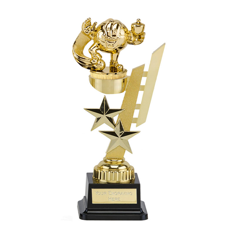 27cm Gold Football Character Figure on Football Sports Star Award
