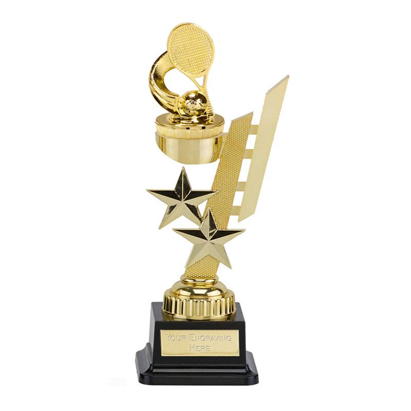 27cm Gold Tennis Figure On Sports Star Award