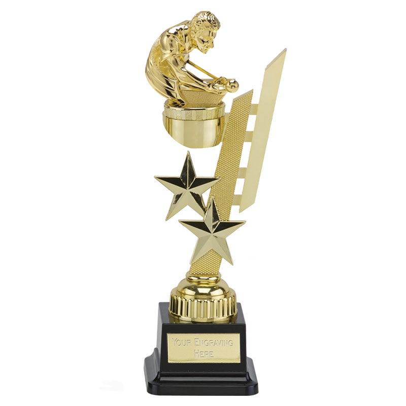 27cm Gold Snooker/Pool Figure on Snooker & Pool Sports Star Award