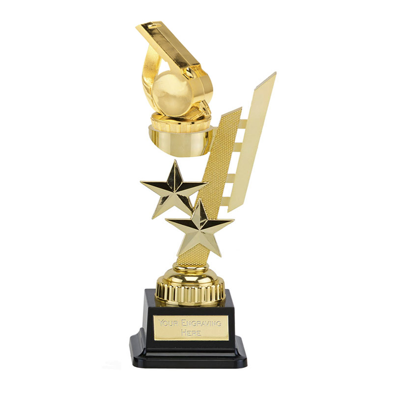 27cm Gold Whistle Figure on Sports Star Award
