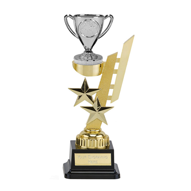 27cm Gold Silver Cup Figure On Sports Star Award