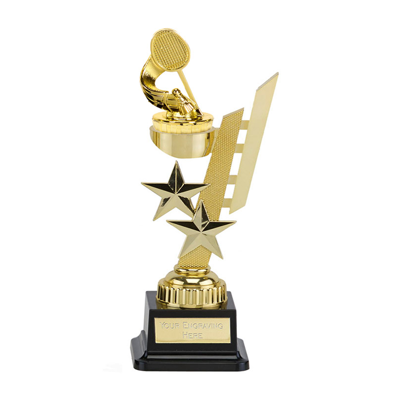 27cm Gold Badminton Figure On Sports Star Award