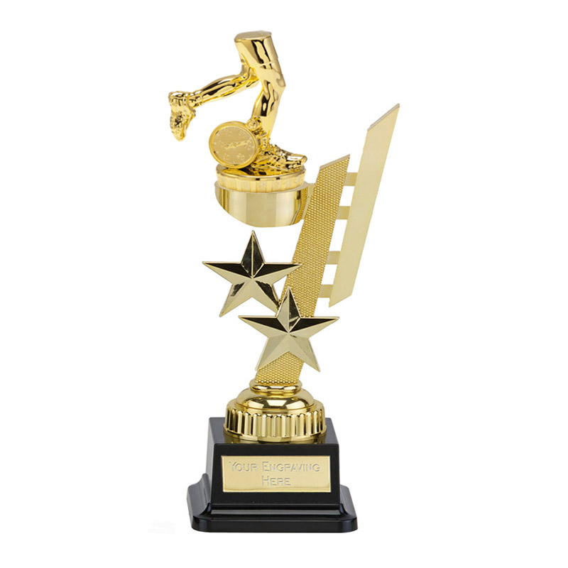 27cm Gold Running Neutral Figure On Sports Star Award