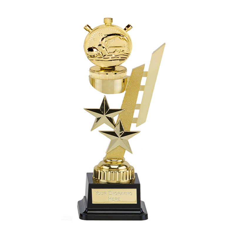27cm Gold Swimming Figure On Sports Star Award