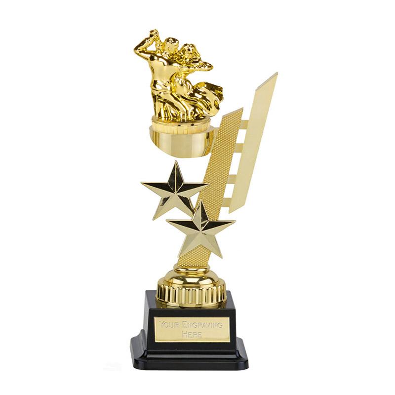 27cm Gold Ballroom Dancing Figure On Dance Sports Star Award