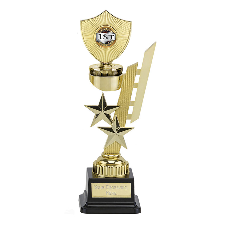 27cm Gold Centre Shield Figure on Sports Star Award