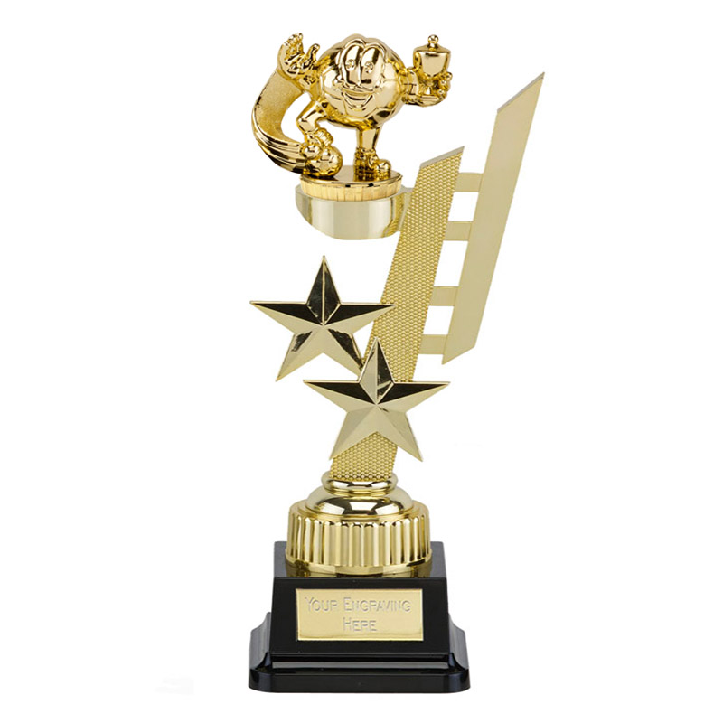 32cm Gold Football Figure On Sports Star Award