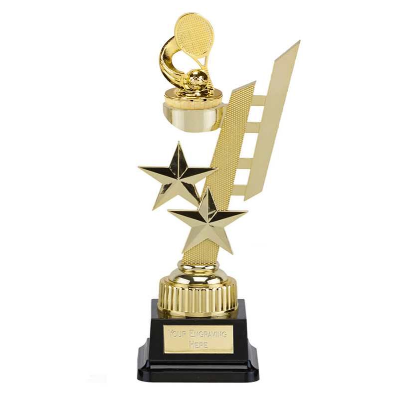 32cm Gold Tennis Figure On Sports Star Award