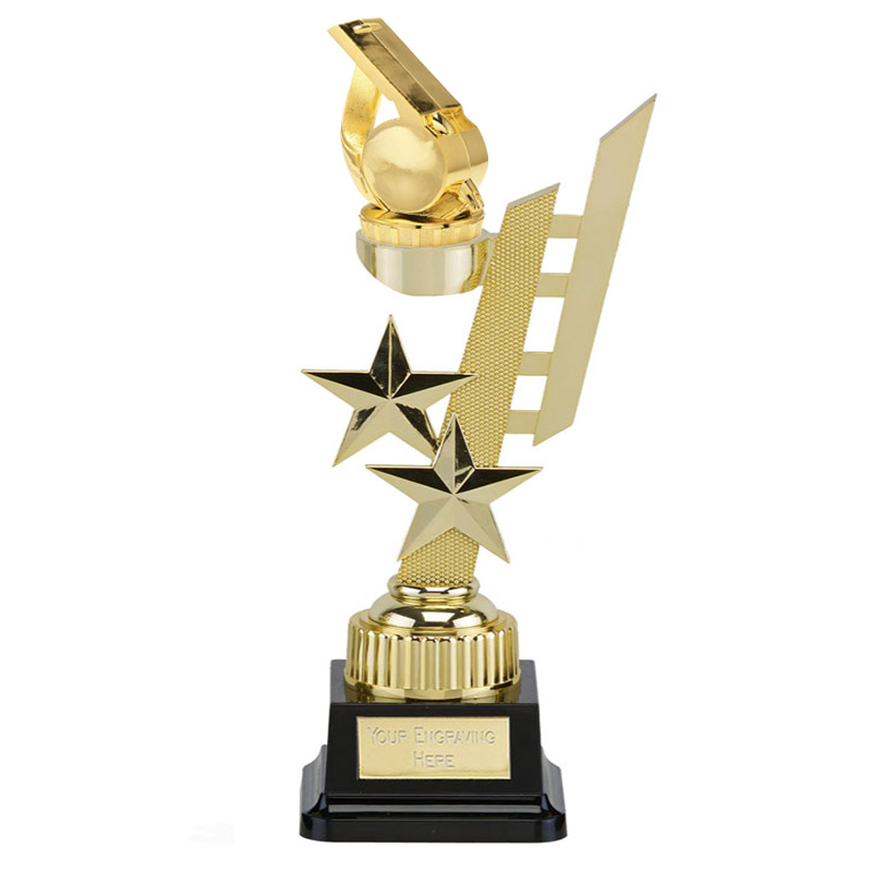32cm Gold Whistle Figure on Sports Star Award