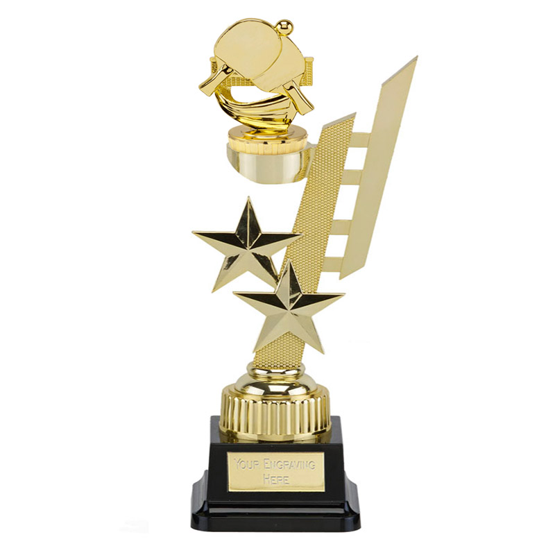 32cm Gold Table Tennis Figure on Table Tennis Sports Star Award