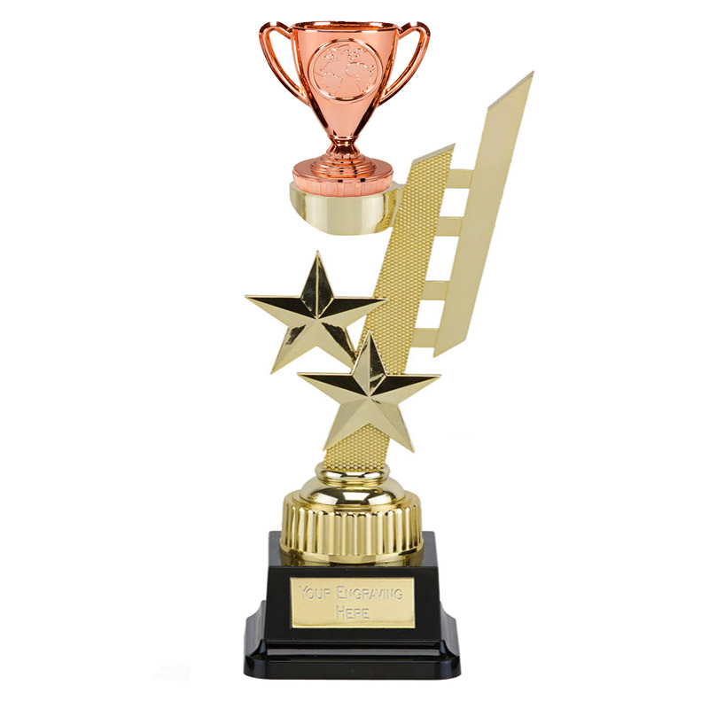 32cm Gold Bronze Cup Figure on Sports Star Award