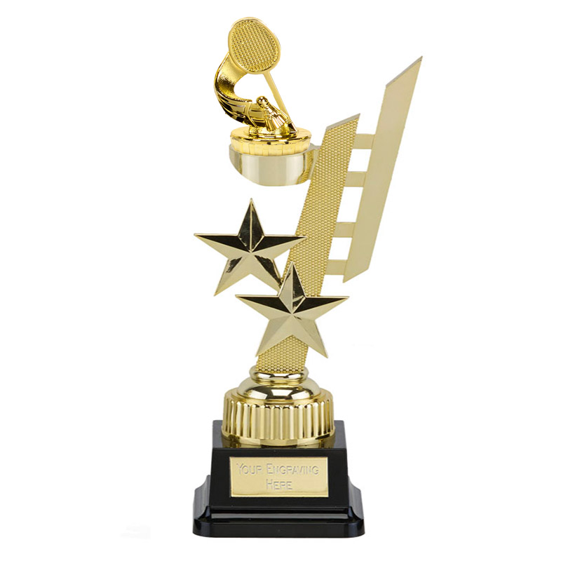 32cm Gold Badminton Figure On Sports Star Award