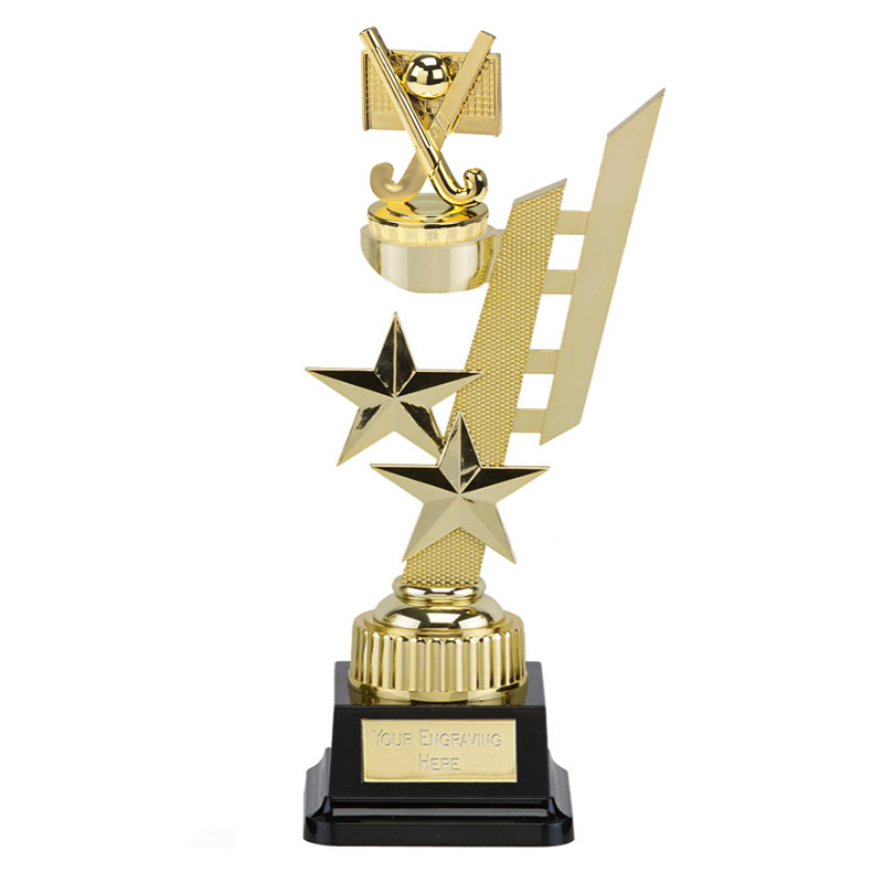 32cm Gold Field Hockey Figure on Hockey Sports Star Award