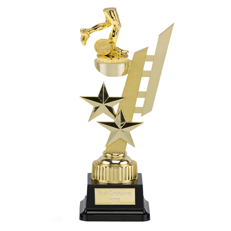 32cm Gold Running Neutral Figure on Running Sports Star Award