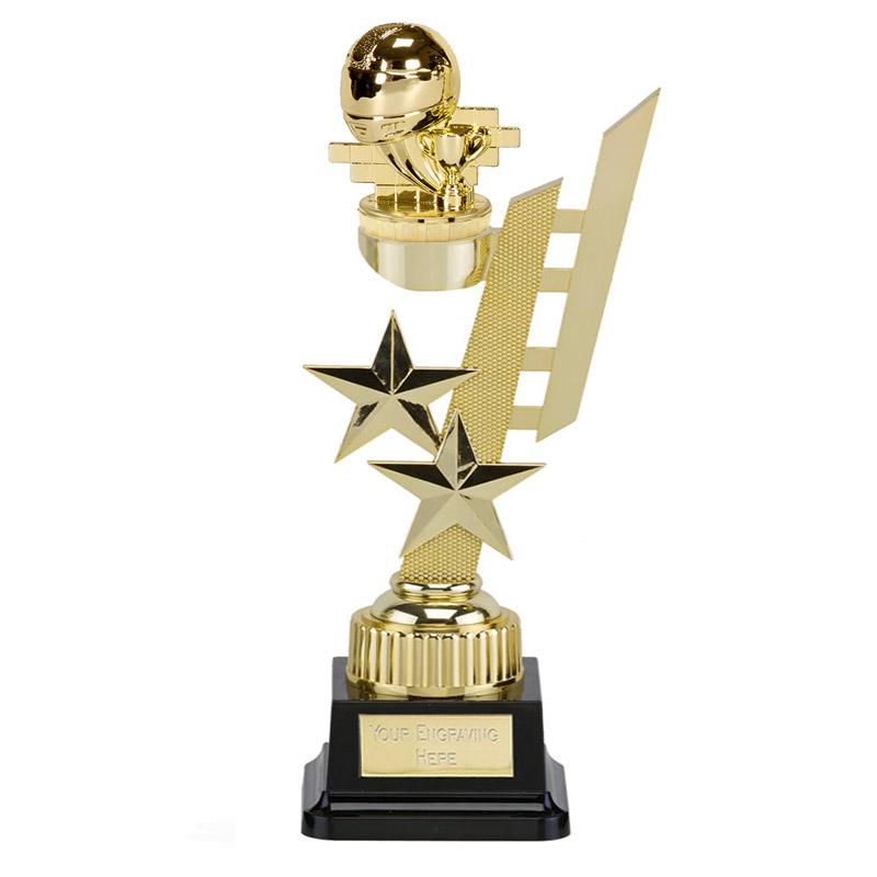 32cm Gold Motorsport Neutral Figure on Motorsports Sports Star Award