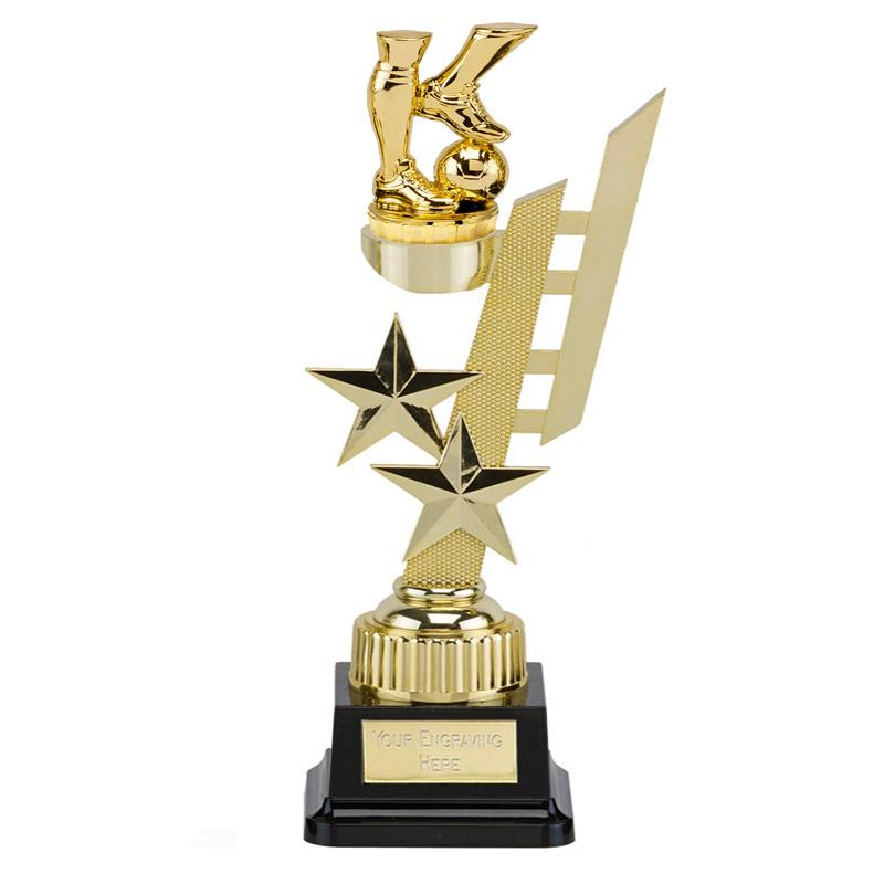 32cm Gold Football legs Figure on Football Sports Star Award