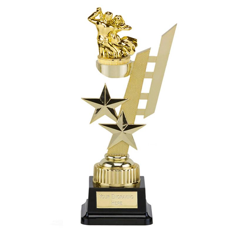 32cm Gold Ballroom Dancing Figure On Dance Sports Star Award