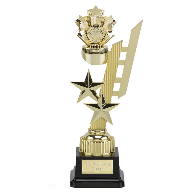 32cm Gold Five Star Figure On Sports Star Award