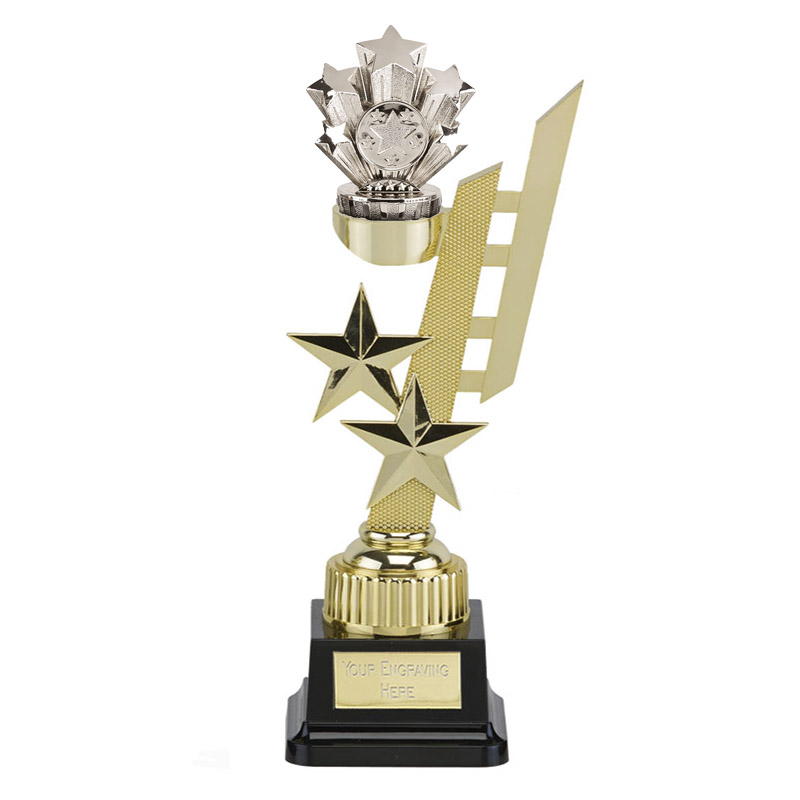 32cm Silver Five Star Figure on Sports Star Award