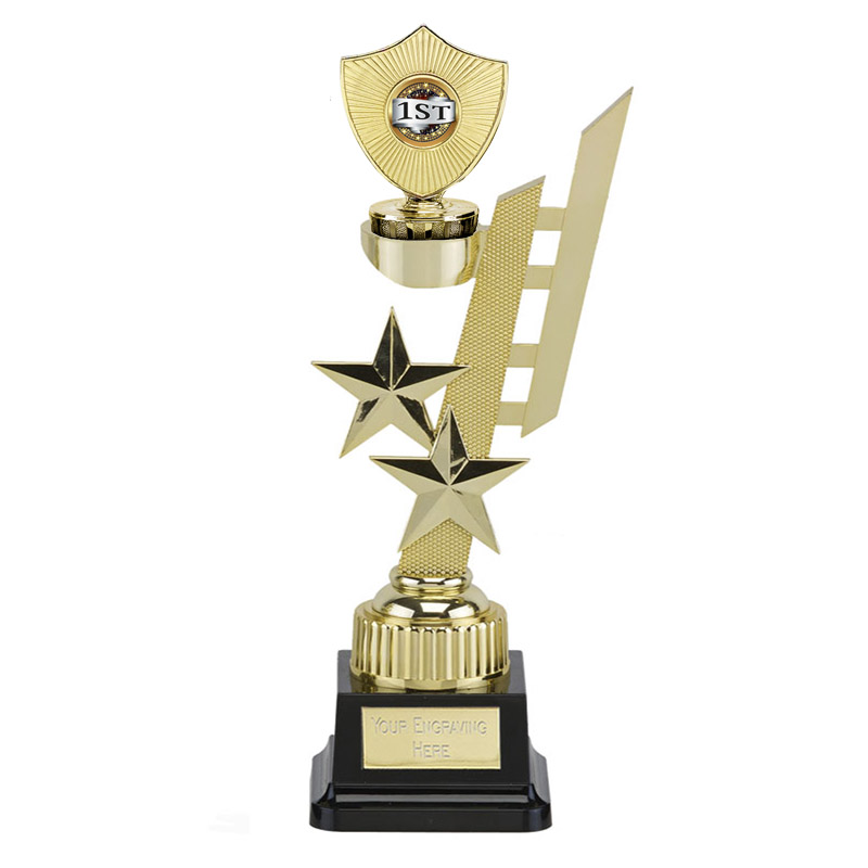32cm Gold Centre Shield Figure on Sports Star Award