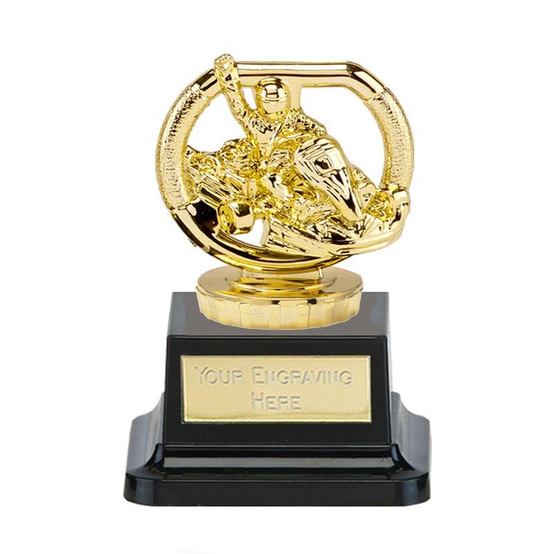 13cm Gold Go-Kart Figure on Motorsports Pegasus Award