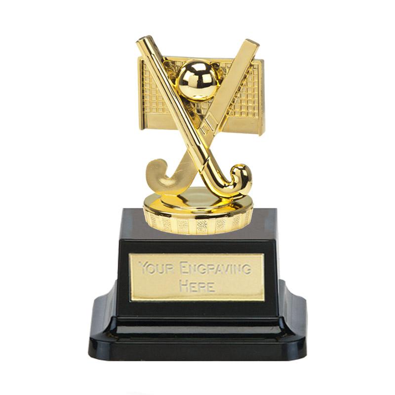 13cm Gold Field Hockey Figure On Pegasus Award