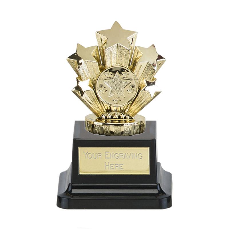 13cm Gold Five Star Figure on Pegasus Award