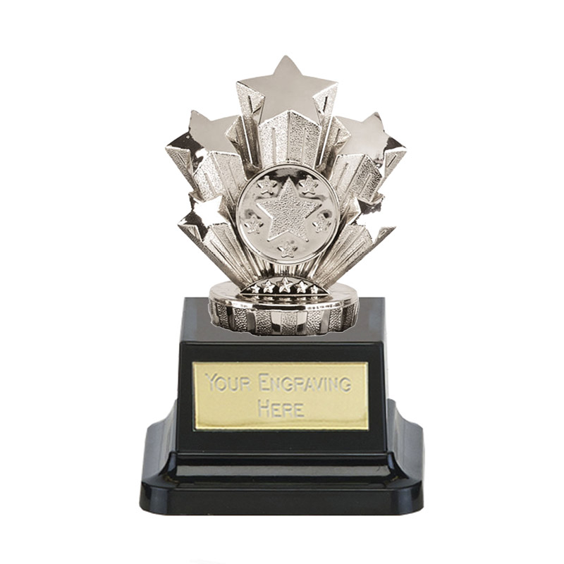 13cm Silver Five Star Figure on Pegasus Award